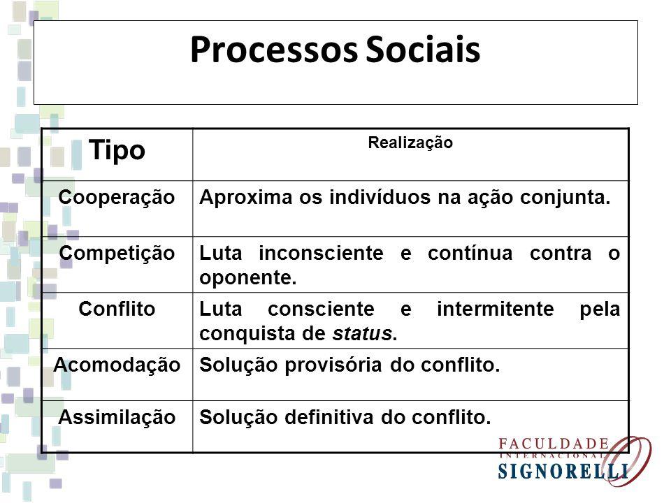 Processos Sociais Tipo Cooperação