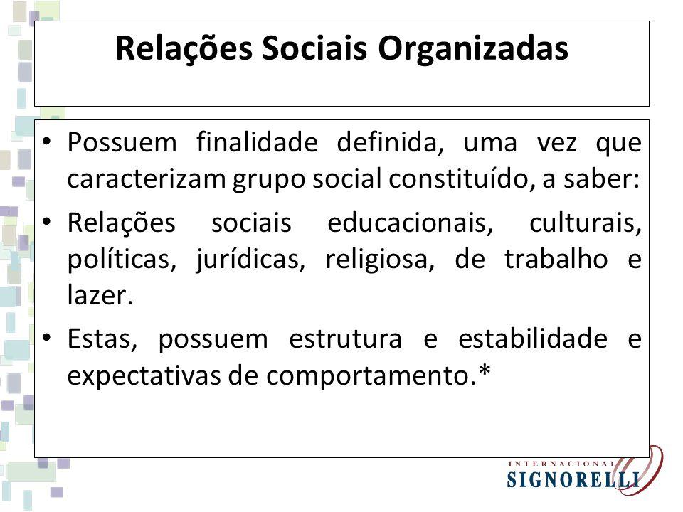 Relações Sociais Organizadas