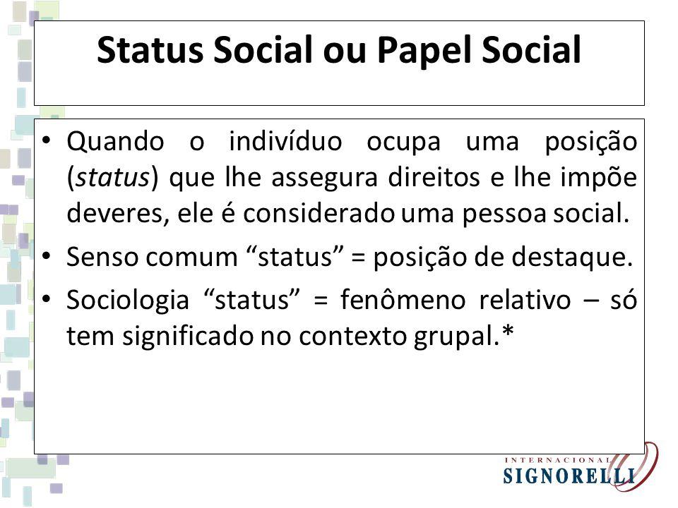 Status Social ou Papel Social