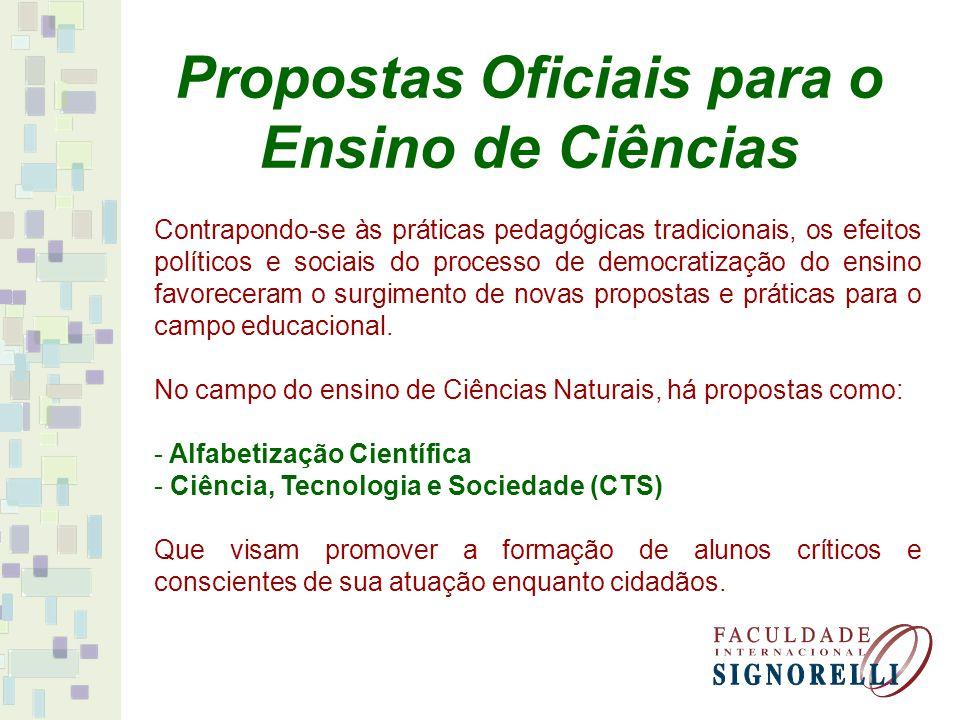 Propostas Oficiais para o Ensino de Ciências