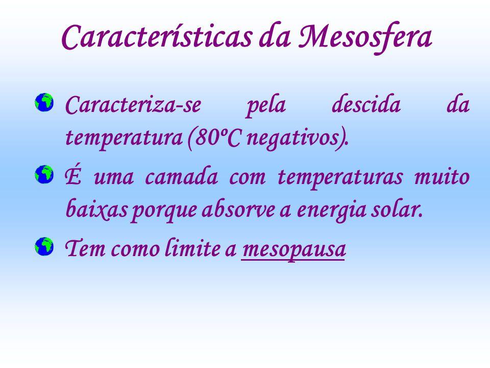 Características da Mesosfera