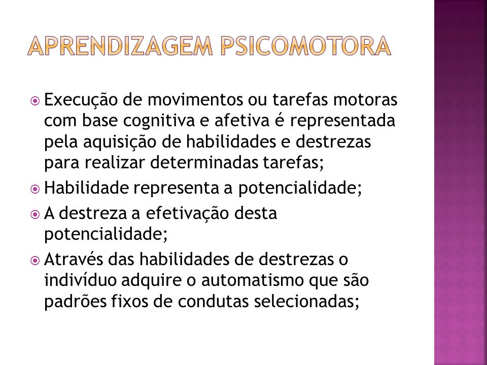 Aprendizagem psicomotora