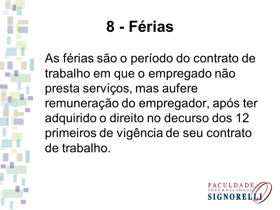 8 - Férias