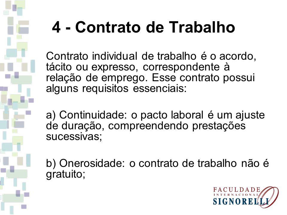4 - Contrato de Trabalho