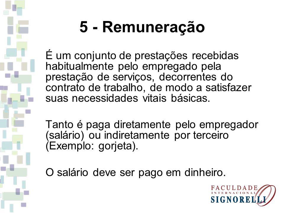 5 - Remuneração