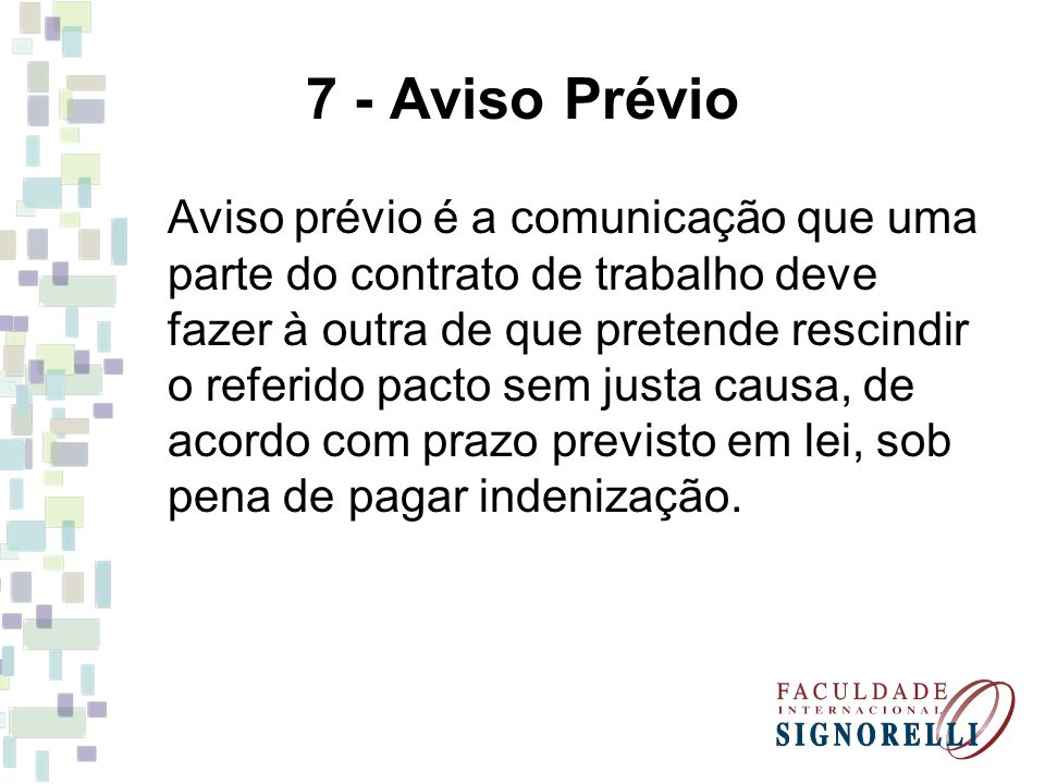 7 - Aviso Prévio