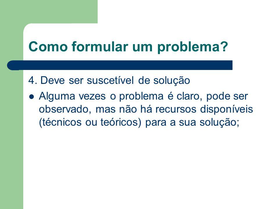 Como formular um problema