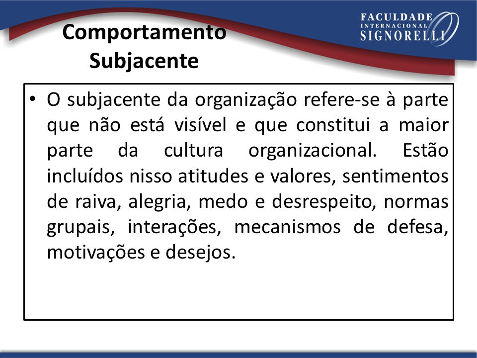Comportamento Subjacente