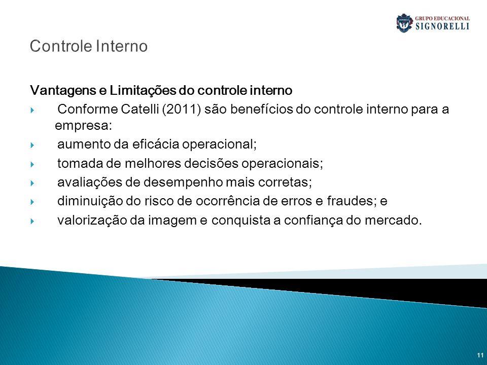 Controle Interno Vantagens e Limitações do controle interno
