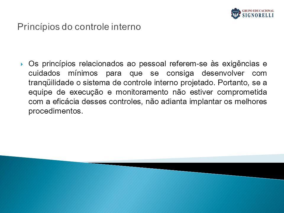 Princípios do controle interno