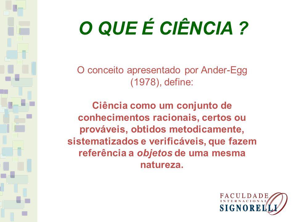 O conceito apresentado por Ander-Egg (1978), define: