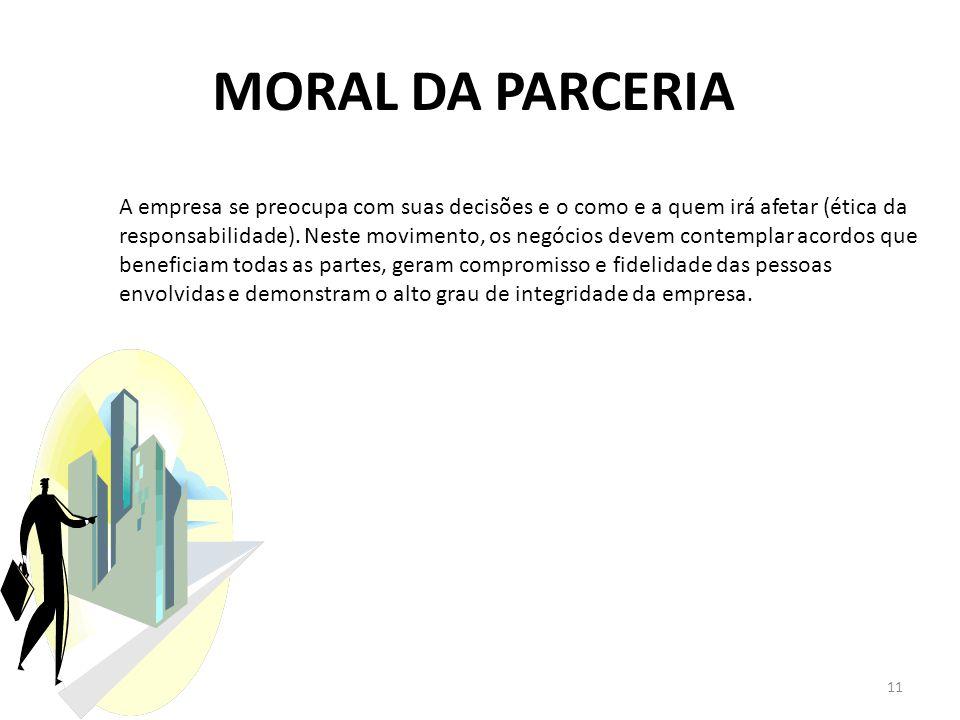 MORAL DA PARCERIA