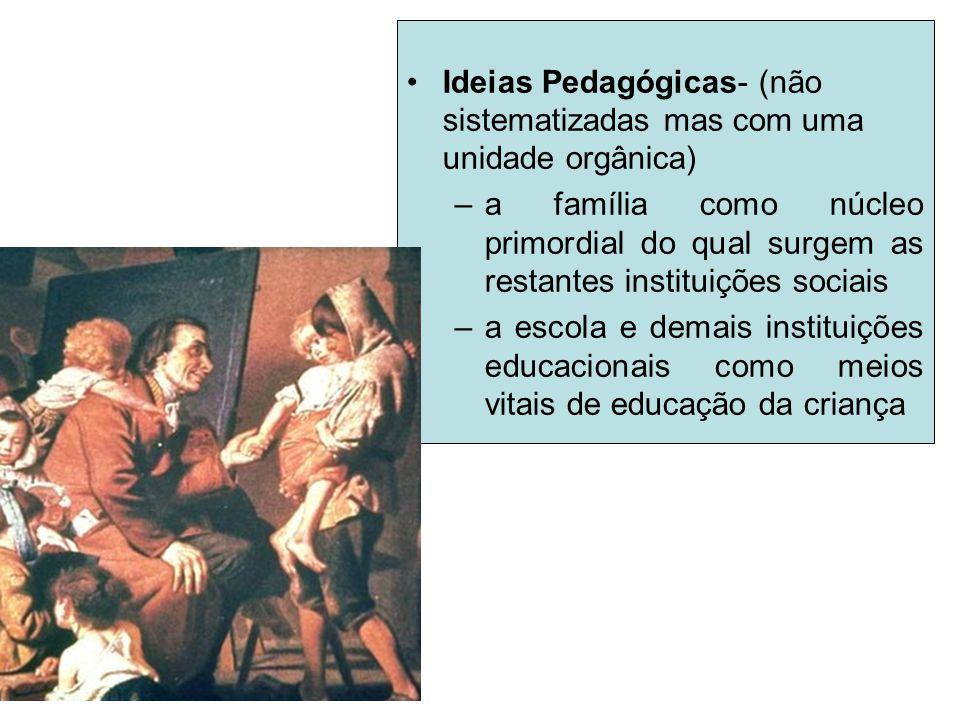 Ideias Pedagógicas- (não sistematizadas mas com uma unidade orgânica)