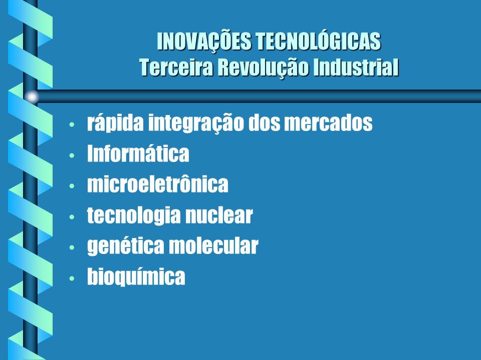 INOVAÇÕES TECNOLÓGICAS Terceira Revolução Industrial