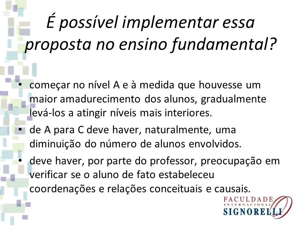 É possível implementar essa proposta no ensino fundamental