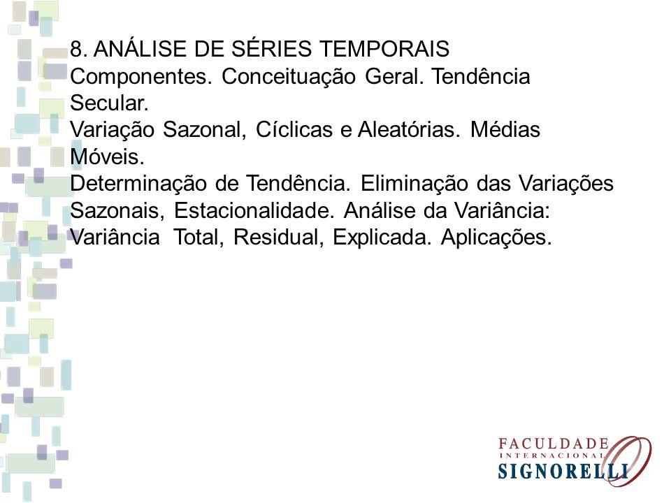8. ANÁLISE DE SÉRIES TEMPORAIS