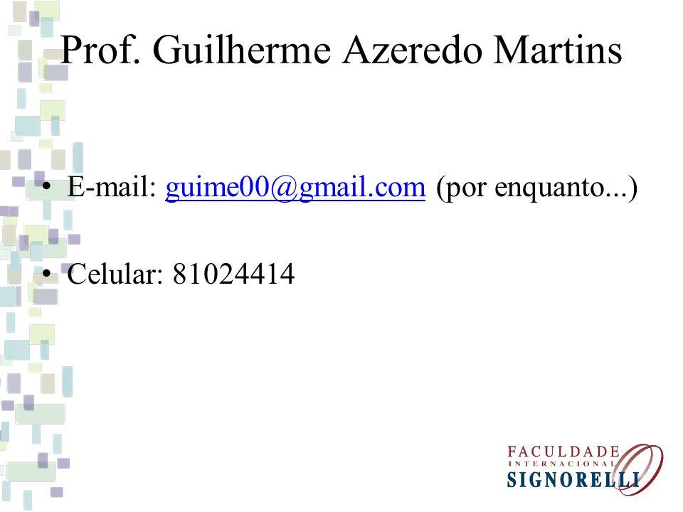 Prof. Guilherme Azeredo Martins