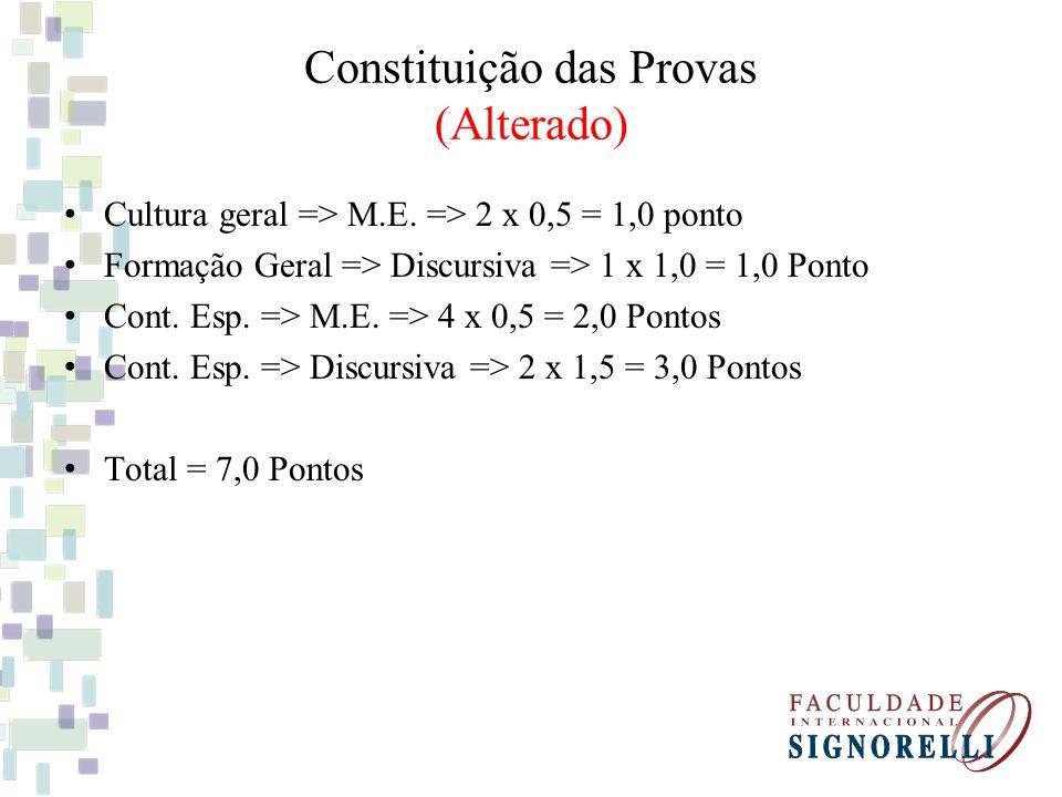 Constituição das Provas (Alterado)