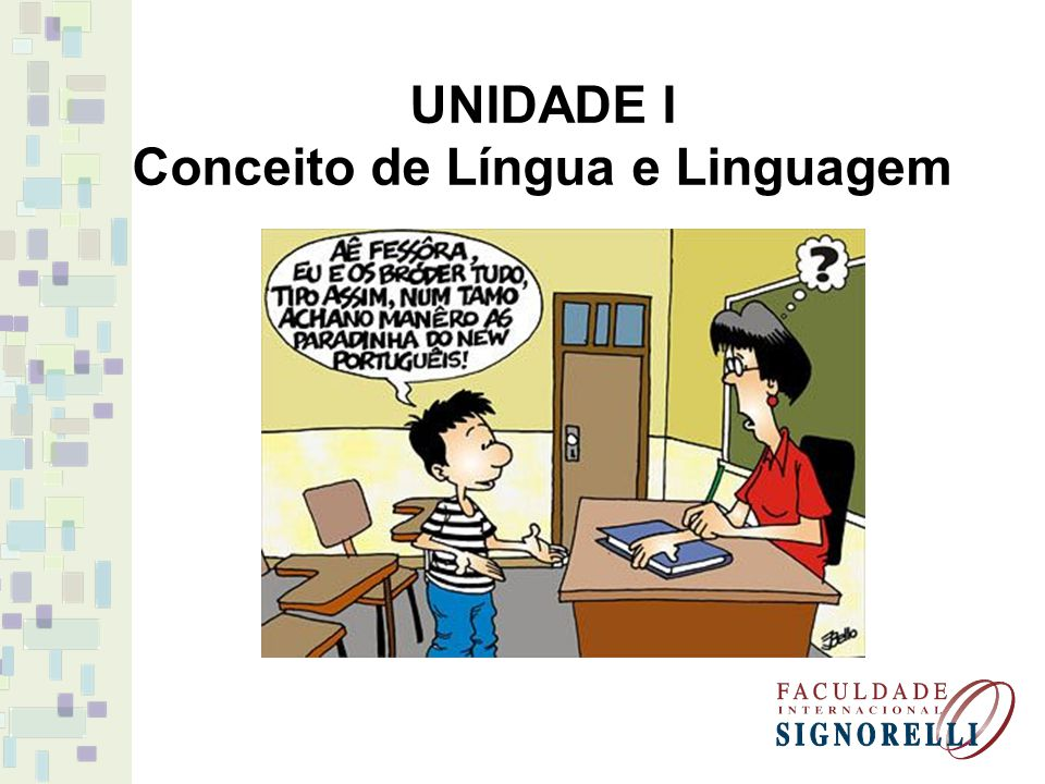 Conceito de Língua e Linguagem