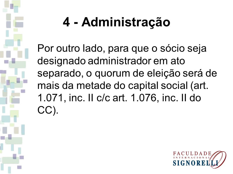 4 - Administração