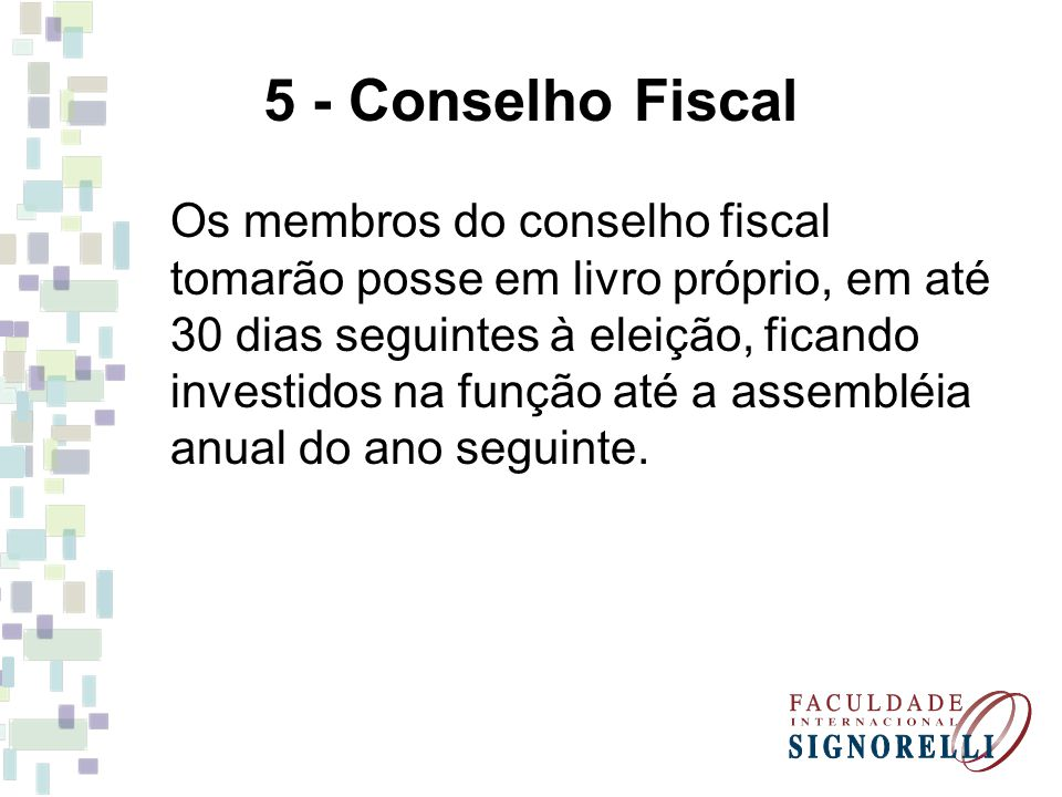 5 - Conselho Fiscal