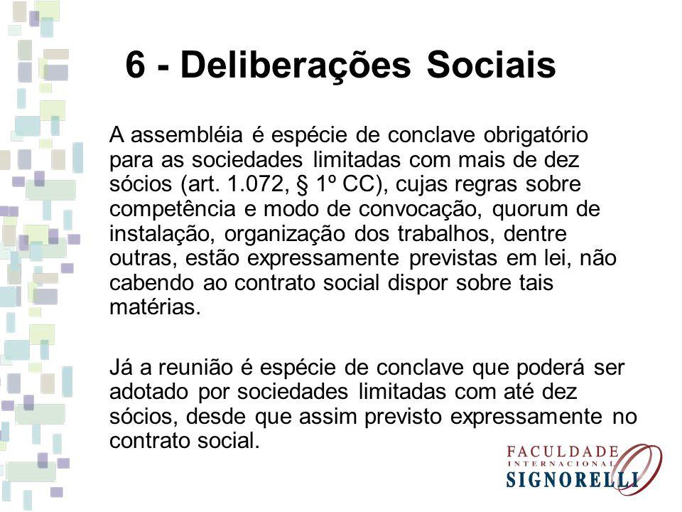 6 - Deliberações Sociais