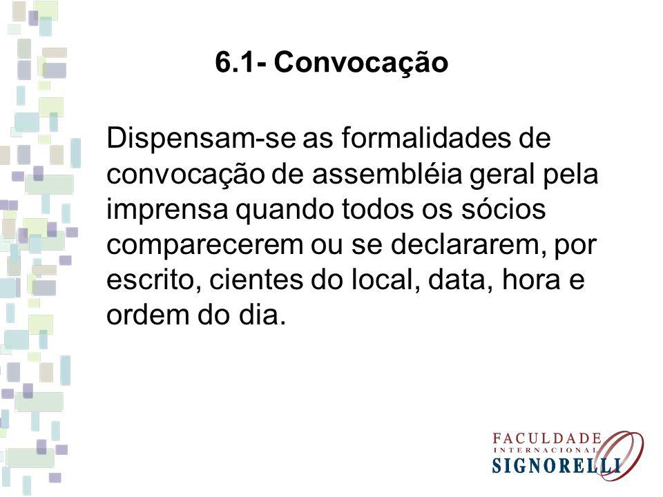 6.1- Convocação