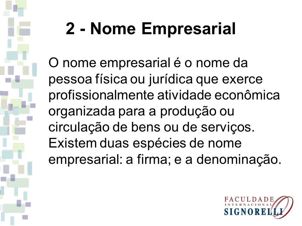 2 - Nome Empresarial