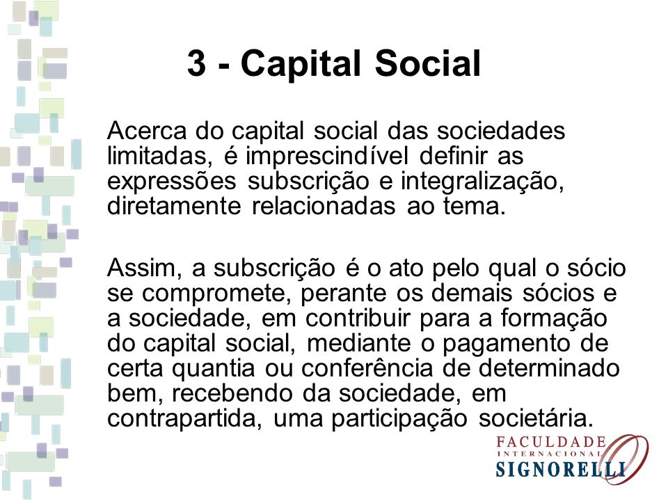 3 - Capital Social