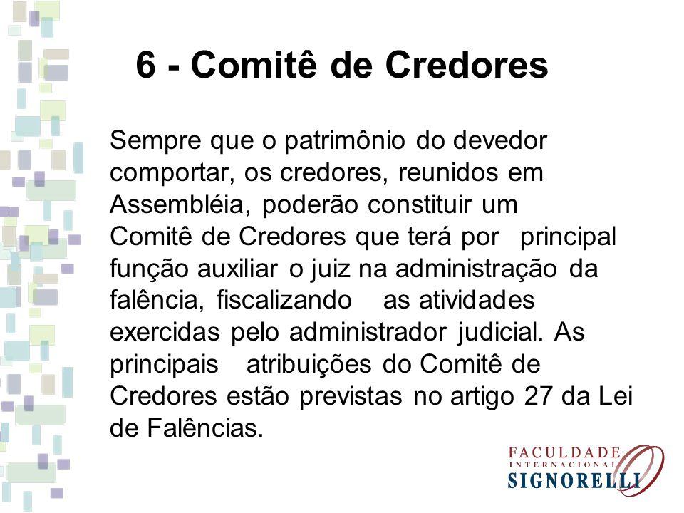 6 - Comitê de Credores