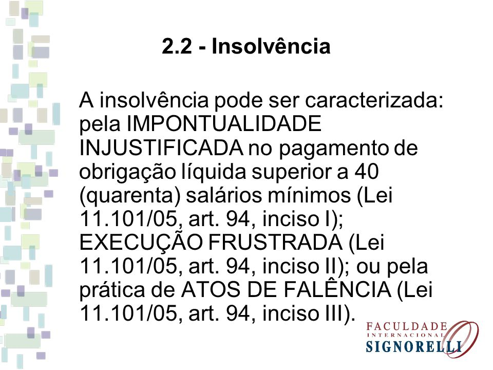2.2 - Insolvência