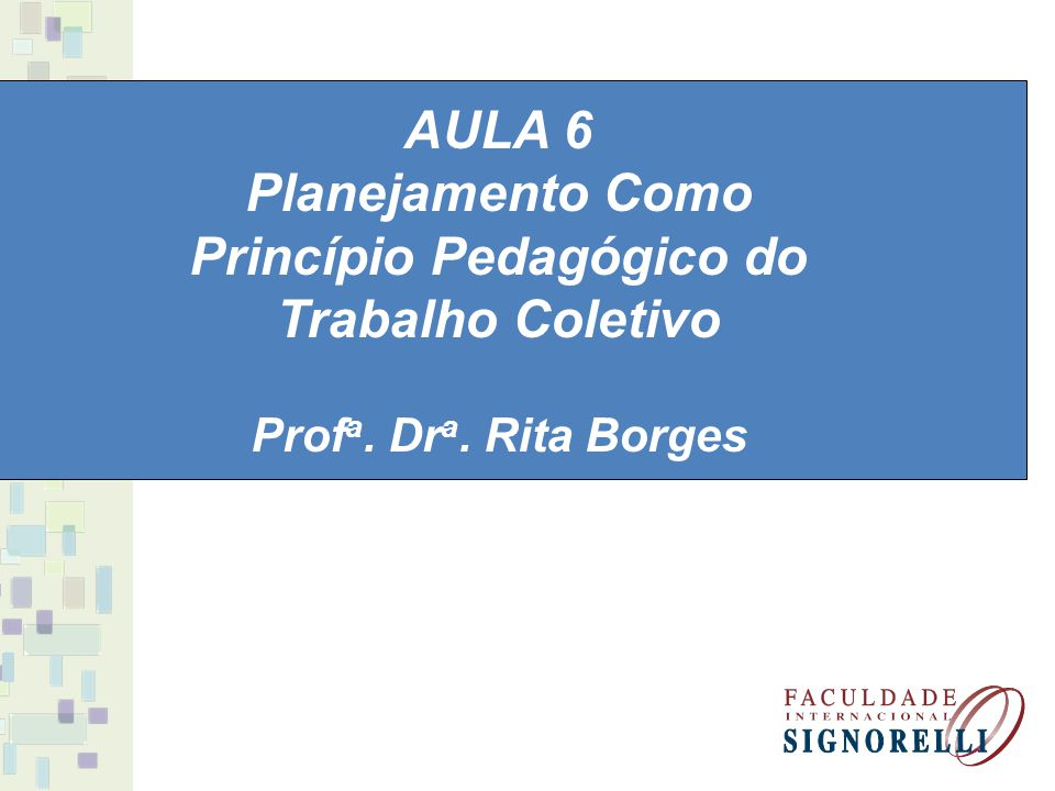 Princípio Pedagógico do