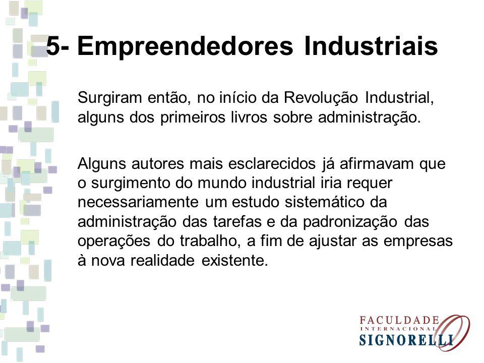 5- Empreendedores Industriais