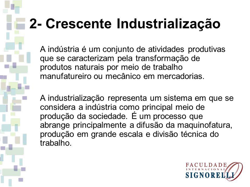 2- Crescente Industrialização