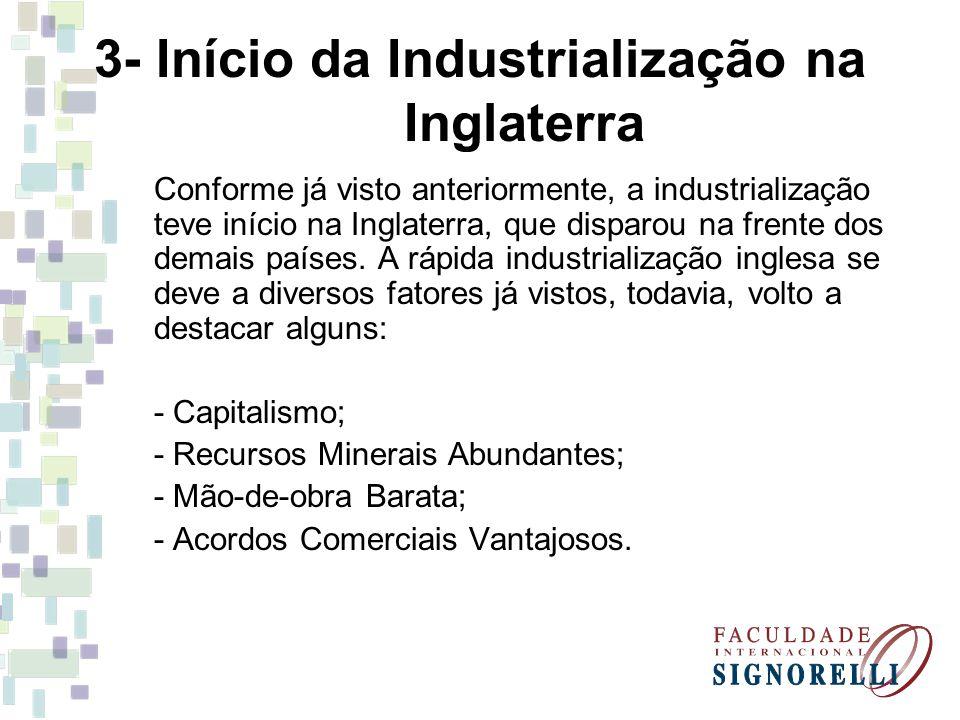3- Início da Industrialização na Inglaterra