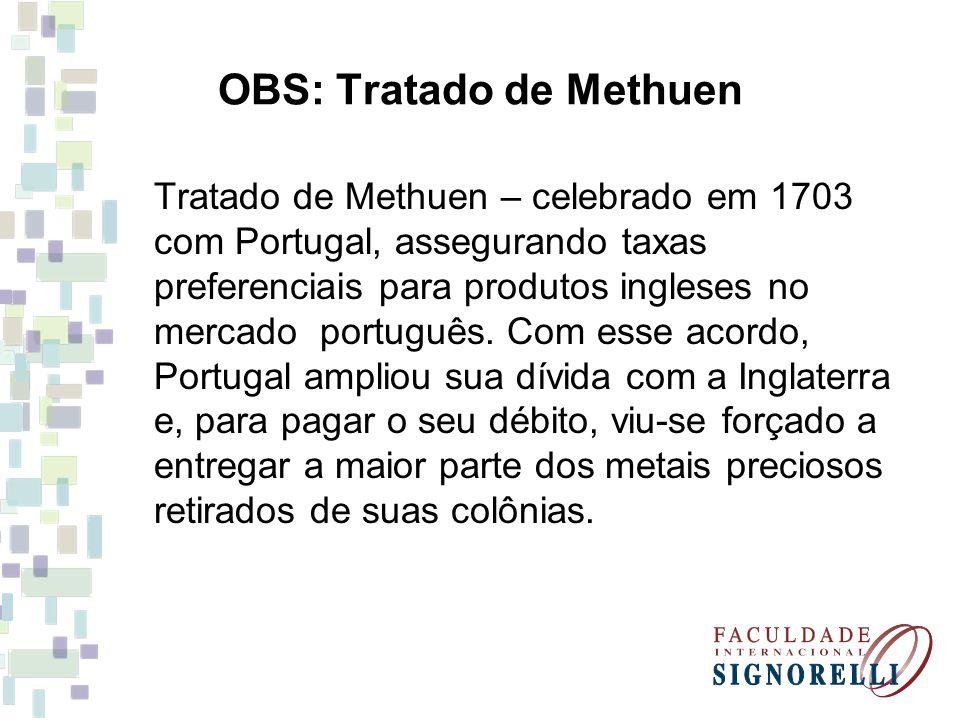 OBS: Tratado de Methuen