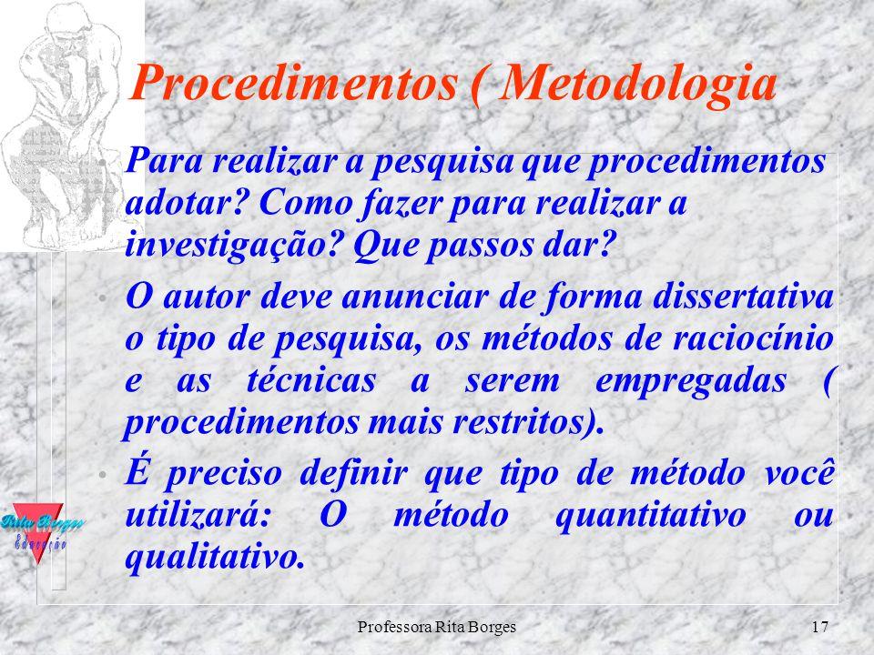 Procedimentos ( Metodologia