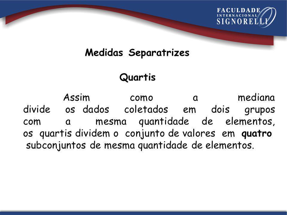 Medidas Separatrizes Quartis.