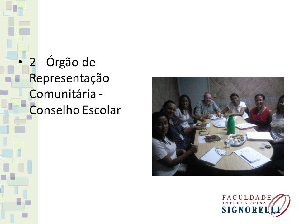 2 - Órgão de Representação Comunitária - Conselho Escolar