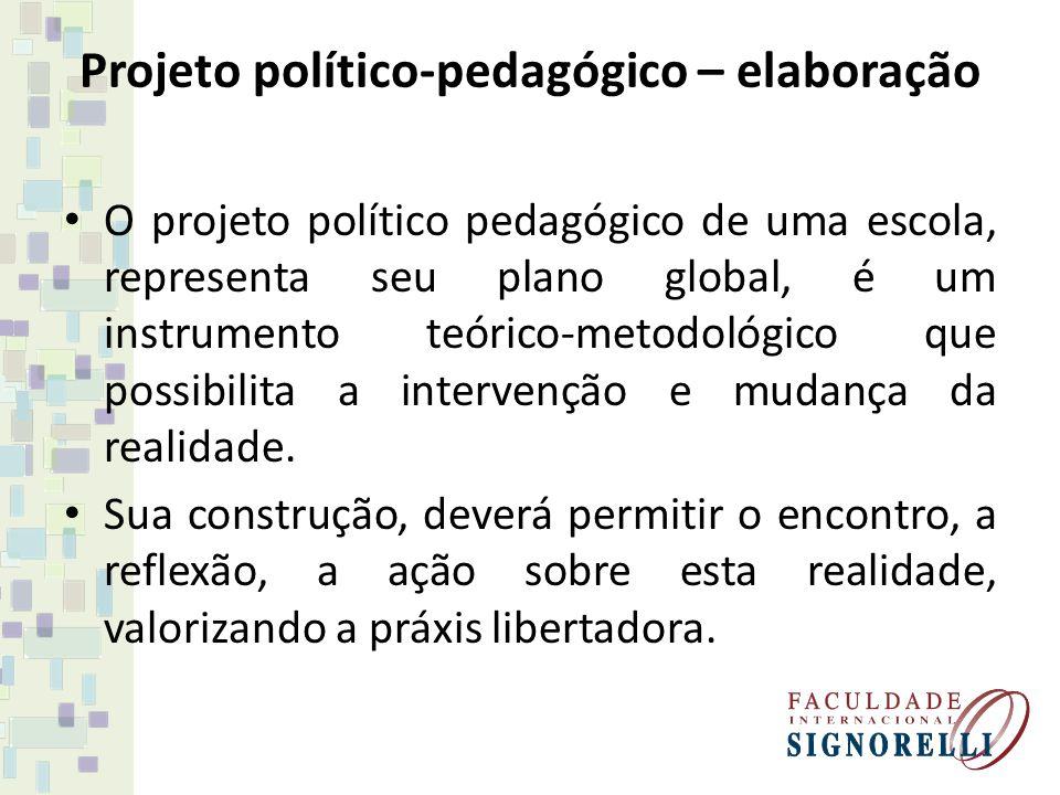Projeto político-pedagógico – elaboração