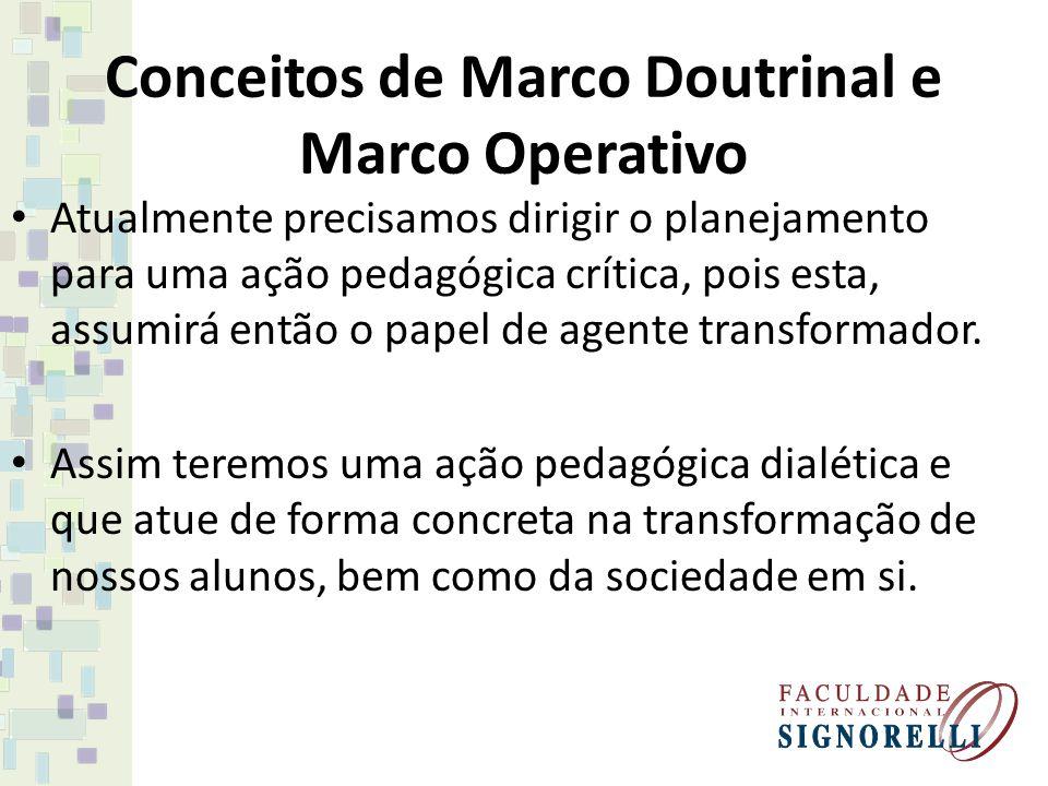 Conceitos de Marco Doutrinal e Marco Operativo
