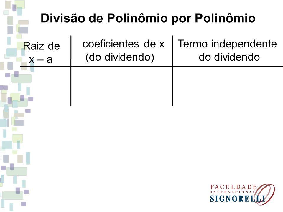 Divisão de Polinômio por Polinômio