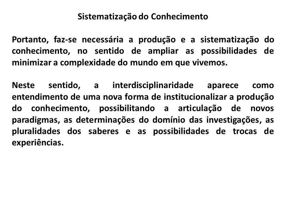Sistematização do Conhecimento
