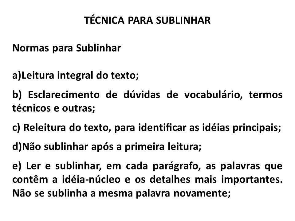 TÉCNICA PARA SUBLINHAR