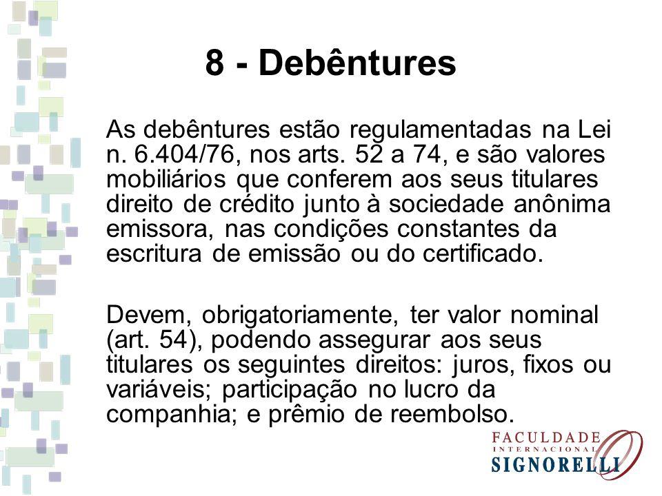 8 - Debêntures