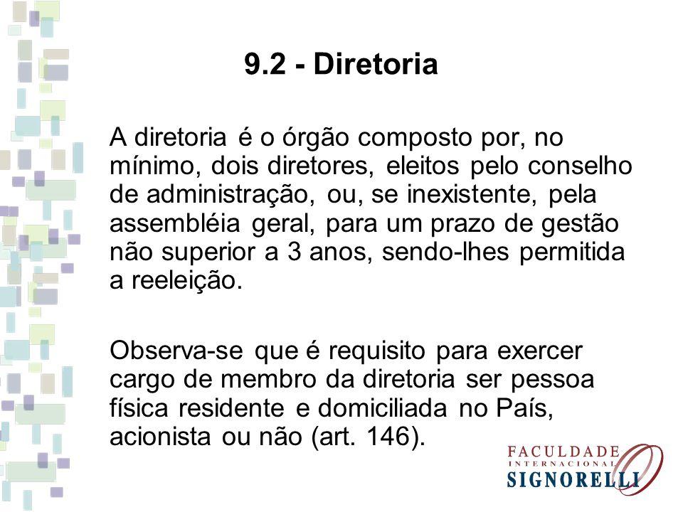 9.2 - Diretoria