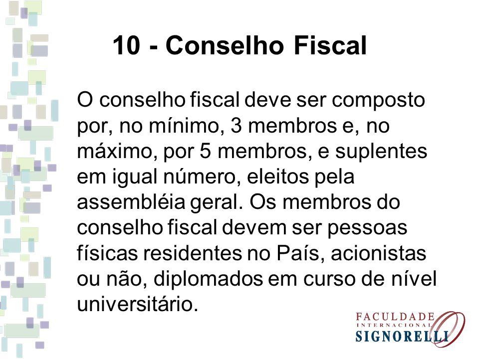 10 - Conselho Fiscal