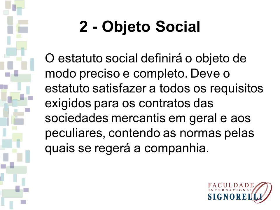2 - Objeto Social