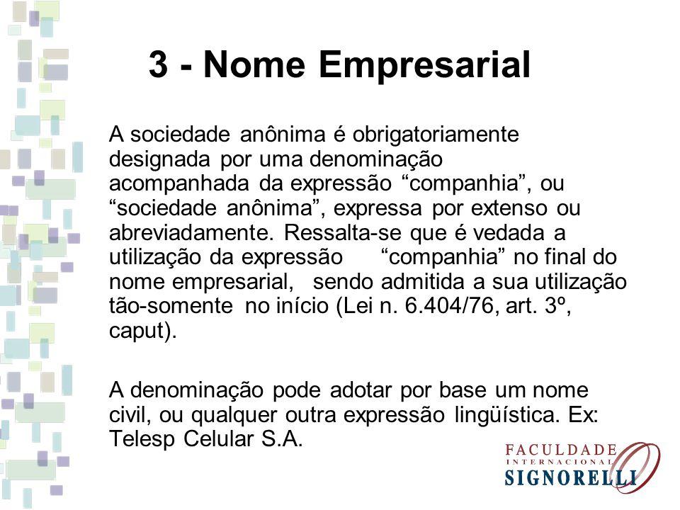 3 - Nome Empresarial