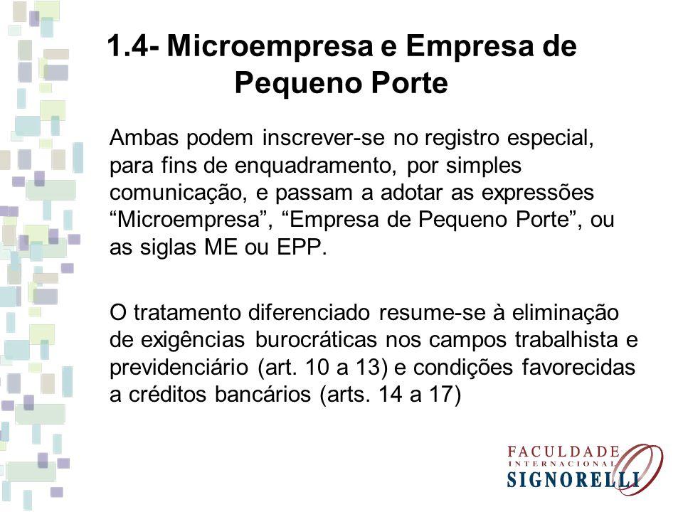 1.4- Microempresa e Empresa de Pequeno Porte